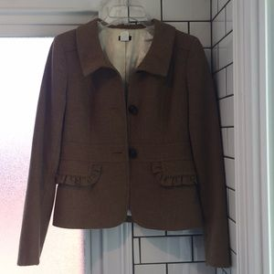 J. Crew tweed camel coat